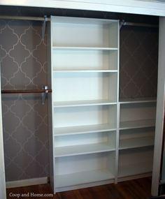 IKEA Billy bookcase custom closet hack