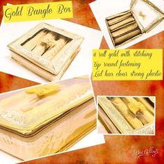 Other Women's Accessories Bangle Box, Bracelet Box, Gold Bangle Bracelet, Gold Bangles, Other Woman, Women's Accessories, Stuff To Buy, Ebay, Gold Bracelets