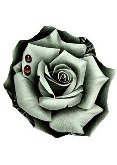 Flor Tattoo, Rosa Tattoo, Mythology Tattoos, Tattoos For Guys, Tattoo Flowers, Drawings, Black, Black And Grey Tattoos, Solid Black Tattoo