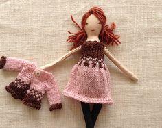 Viste a la muñeca, muñeca de tela hecha a mano, sistema de la muñeca, muñeca mamá e hija, suave muñeca, muñecas, vestir, muñeca de trapo