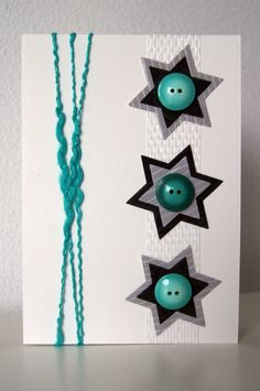 Handmade by JoHo - Kaarten maken - Cardmaking How To Make Greetings, Holiday Cards, Christmas Cards, Star Cards, Button Cards, Easy Paper Crafts, Unique Cards, Greeting Cards Handmade, Diy Cards