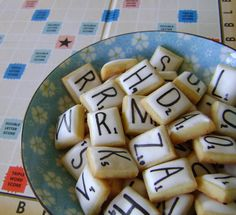 When Adobo Met Feijoada: Scrabble Cookies -- Perfect for Family Game Night! Galletas Cookies, Cute Cookies, Mini Cookies, Bar Cookies, Betty Crocker, Cupcakes, Cupcake Cakes, Lemon Sugar Cookies, Food Humor