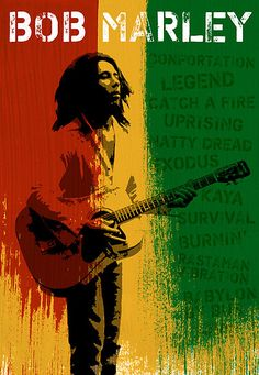 """""""Bob Marley"""" Digital artwork / Mixed media. """"A gathering of the minds"""" Series © Konstantinos Arvanitopoulos, 2005-2012. All Rights Reserved."""