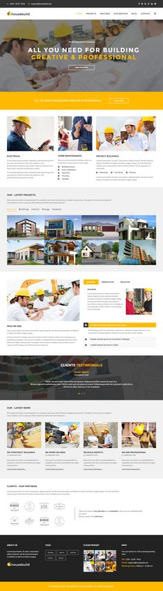Housebuild is Premium full Responsive Construction Company template. Retina Ready. Bootstrap Framework. Parallax Scrolling. #HTML5 #ConstructionCompany #BootstrapFramework Test free demo at: http://www.responsivemiracle.com/cms/housebuild-premium-responsive-construction-business-html5-template/