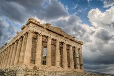 The Acropolis, sits on the highest point in Athens and is where the first democracy was