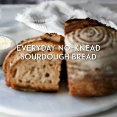 No-Knead Everyday Sourdough Bread - Every baker needs an all-purpose, go-to loaf in their repertoire. And if you're new to sourdough, this is the perfect place to start. Whole Wheat Sourdough, Sourdough Bread Starter, Sourdough Recipes, Overnight Sourdough Bread Recipe, Sourdough English Muffins, Spelt Bread, Yeast Bread, Artisan Bread Recipes, Gourmet