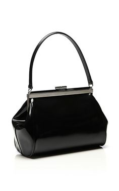 Small Glossy Leather Satchel by Simone Rocha - Moda Operandi