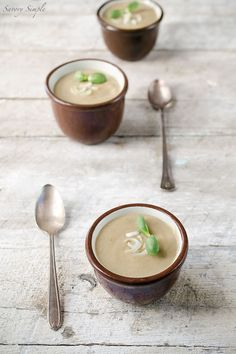 This Cream of Shiitake Mushroom and Spring Onion Soup is a rich ...