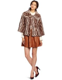 collection eighteen Women`s Patricia Faux Fur Swing Jacket $86.00