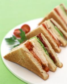 Menu for a Ladies' Lunch - simple club sandwiches