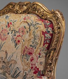 Armchair (part of a large set), 1753 Nicolas-Quinibert Foliot (French, Carved and gilded beechwood, covered with the original silk and wool Beauvais tapestry covers Furniture Dolly, French Furniture, Fine Furniture, Antique Furniture, Georgian Furniture, Furniture Movers, Retro Furniture, Furniture Styles, Furniture Ideas