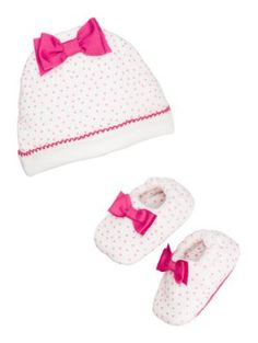 layette cap & bootie set - kate spade new york
