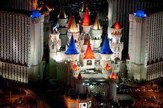 Las Vegas at Night Excalibur