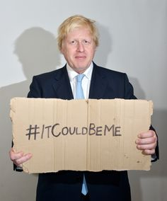 #ItCouldBeMe  Boris Johnson   Beating homelessness at http://www.wearetrinity.org.uk