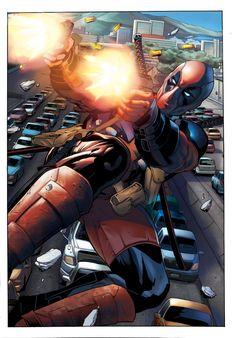 #Deadpool #Fan #Art. (Deadpool Pages Inks (1) By:WingVic. ÅWESOMENESS!!!™ ÅÅÅ+