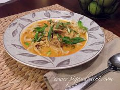 Pig and Paint: Slow Cooker Thai Curry Chicken Noodle Soup