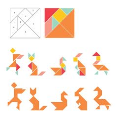 tangram refrigerator magnets tutorial