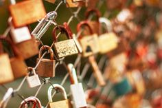 Ad: Collection of locks by ChristianThür Photography on Chain fence with locks Chain Fence, Dreamy Photography, Shades Of Gold, Diy Crafts For Gifts, Business Illustration, Abstract Photos, Everyday Objects, Business Card Logo, Creative Art