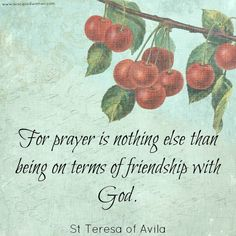 St Teresa prayer quote