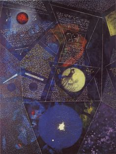 'The World of the Naïve' by Max Ernst, oil-on-canvas, 1965.