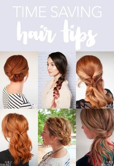 Time saving hair tips