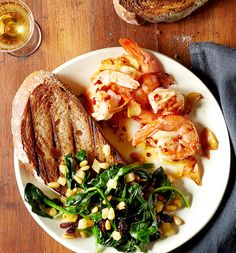 Garlic Shrimp and Catalan Spinach by Chef Jose Andres, wsj #Shrimp #Garlic #Spinach