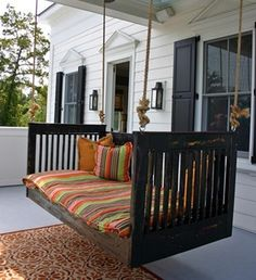 Mission swing for a craftsman house: a collection of swinging bed ideas from Attic mag