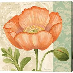 Metaverse Art Pastel Poppies II Gallery Wrapped Canvas Wall Art