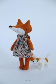 handmade toys & other little things Felt Decorations, Handmade Toys, Fox, Snoopy, Teddy Bear, Dolls, Sewing, Mini, Animals