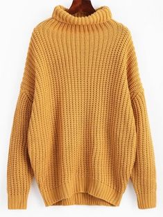 SHARE & Get it FREE | Turtleneck Longline Chunky Sweater - GingerFor Fashion Lovers only:80,000+ Items • New Arrivals Daily Join Zaful: Get YOUR $50 NOW!