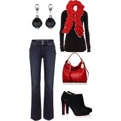A fashion look from December 2011 featuring Dorothy Perkins tops, Paige Denim jeans and Christian Louboutin ankle booties. Browse and shop related looks.