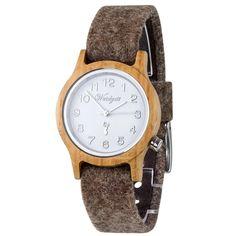 Hodinky Alpin GROSSGLOCKNER dámske - Doprava Zdarma - Waidzet – waidzeit.sk Wood Watch, Watches, Leather, Accessories, Fashion, Wooden Clock, Moda, Wristwatches, Fashion Styles