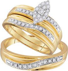 96749- 0.33CTW DIAMOND FASHION TRIO-SET