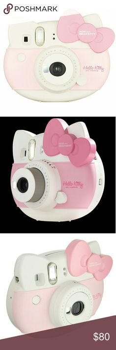 Hello Kitty Instax Mini Fujifilm Camera This camera is soooo damn cute but I just never get any use out of it. Takes instant photos that print out on the spot, super fun and perfect for festivals!! Comes in the box with a clear case, a plaid pink strap, and film! Be the envy of all your friends 😘  Tags Polaroid sanrio to Urban Outfitters Other