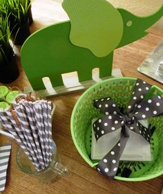 Green and gray baby shower for my soon to be Grandbaby and his Mama!
