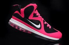 83bd33272009 Nike LeBron 9 Women Shoes Pink Black Womens Basketball Shoes