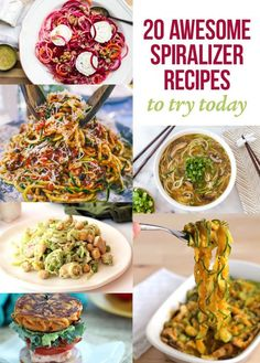 20 Awesome Spiralizer Recipes To Try Today - via Eat Drink Paleo Click here: http://eatdrinkpaleo.com.au/20-awesome-spiralizer-recipes-to-try-today/