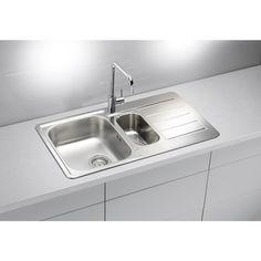 AS-Laredo 70 stainless steel kitchen sinks undermount Stainless Steel Double Sink, Undermount Stainless Steel Sink, Undermount Sink, Stainless Steel Material, Stainless Kitchen, Corner Sink Kitchen, Kitchen Sinks, Inset Sink, Sink Drain