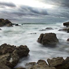 Zona de rocas en Baiona, Pontevedra.