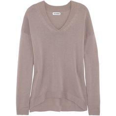Jil Sander Cashmere boyfriend sweater ($1,050) via Polyvore