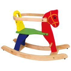 Viga Wooden Rocking Horse with detachable side rails #56163