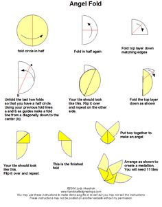 instructions for the angel tea bag fold