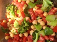 Chick Pea & Tomato Salad  Are you getting bored eating brown rice and quinoa? Need a little something different? This is going to be perfect for you! It is quick, easy and low fat, full of vitamins and minerals and a great way to get your veggies in at the same time.     www.LauraLondonFitness.com