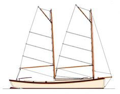 Sharpie rig and hull, pros and cons - Boat Design Forums Sea Bright, Boat Interior, Charter Boat, Boat Design, Power Boats, Boat Plans, Boat Building, Sailboats, Water Crafts