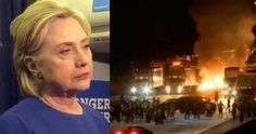 Without any explanation, Hillary Clinton canceled her fundraiser in North Carolina just hours before rioters lit a major city in that state on fire in violent protest of police.