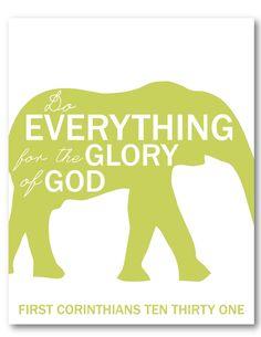 1 Corinthians 10:31|| Kids Prints!