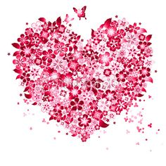 Vector illustration of Floral Love Shape. Floral Love Shape are done by single gradient tone only. Change color to the is easy, simply select the Floral Love Shape and change the gradient's color. Valentines Illustration, Heart Illustration, Heart Emoji, Love Shape, Heart Images, Fashion Wall Art, Heart Wallpaper, Heart Art, Free Vector Art