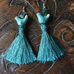 Cute bird dangle earrings for only $15.00. Someone on your Christmas list would love these! Tap Visit  https://www.etsy.com/listing/547845491/boho-dangle-earrings-bohemian-earrings-tassel-earrings-hippie-earrings-big-earrings-girlfriend-earrings