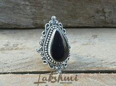 Anel de prata com pedra natural (2)