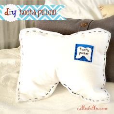 diy tooth pillow by NellieBellie. Tutorial for this easy and fun pillow!